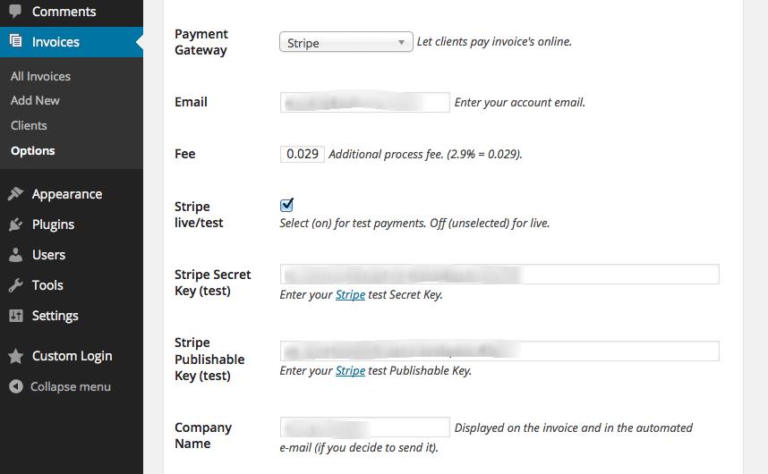 WordPress Invoice Pro - PayPal & Stripe invoices