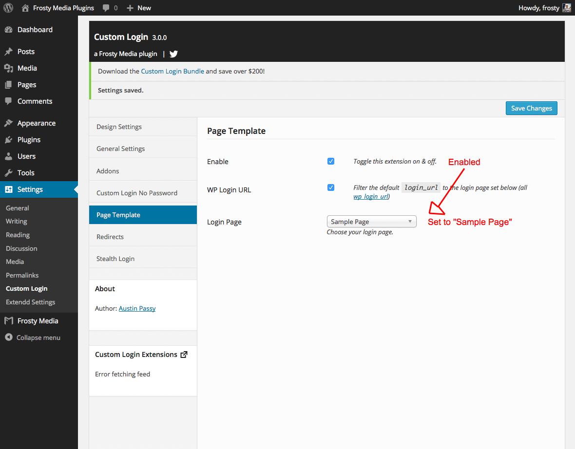 Wp Login: Custom Login Page Template Plugin For WordPress
