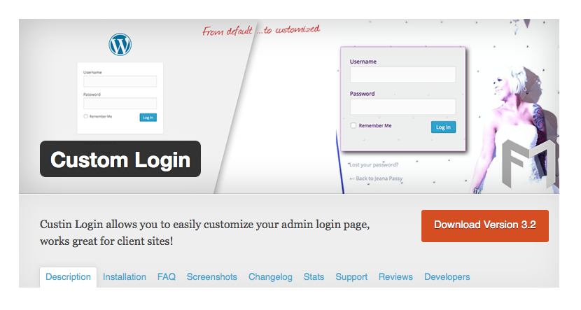 Custom Login v3.2 Released