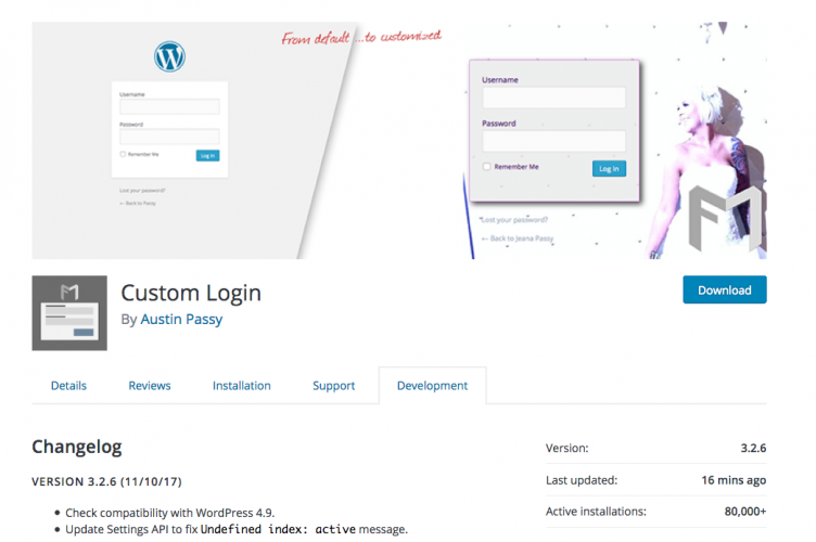 Custom Login v3.2.6