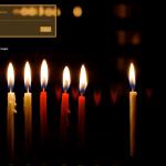 Custom Login Chanukah Lights