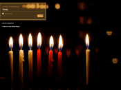 Custom Login Chanukah Lights