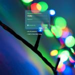 Custom Login Christmas Lights